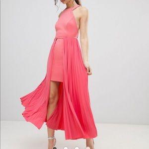 ASOS long pink dress